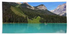 Emerald Lake, British Columbia Beach Sheet by Heather Vopni