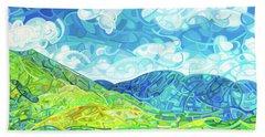 Emerald Moments Beach Sheet by Mandy Budan