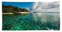 Emerald Purity. Maldives Beach Towel