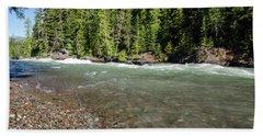 Emerald Waters Flow Beach Towel