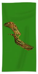 Beach Sheet featuring the digital art Emerald Wings by Asok Mukhopadhyay