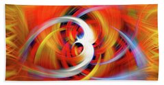Emerging Light From A Colorful Vortex Beach Towel by Sue Melvin
