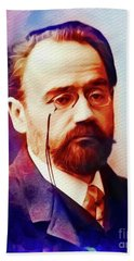 Emile Zola, Literary Legend Beach Towel