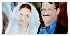 Emily And Jason Beach Towel