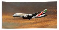 Emirates Airbus A380-861 3 Beach Towel