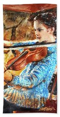 Emma's Violin Beach Towel