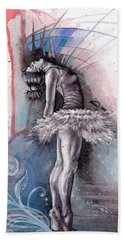Emotional Ballet Dance Beach Towel