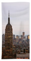 Beach Towel featuring the photograph Empire State Building No.2 by Zawhaus Photography