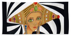 Empress Exotica -- Whimsical Exotic Woman Beach Towel