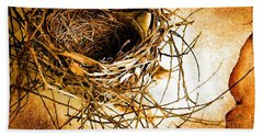 Beach Towel featuring the photograph Empty Nest by Jan Amiss Photography
