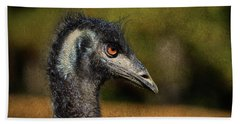 Beach Towel featuring the photograph Emu Coming Back To See Me? by Sandi OReilly
