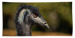 Emu Coming Back To See Me? Beach Towel