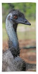 Beach Towel featuring the photograph Emu Looking At You by Dodie Ulery