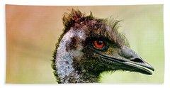 Emu Love Beach Sheet by Michael Cinnamond