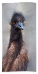 Beach Towel featuring the photograph Emu by Robin-Lee Vieira