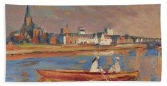 En Bateau De Renoir Sur La Meuse A Maestricht Beach Towel