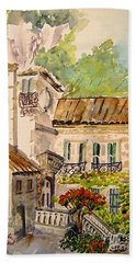 En Plein Air At Moulin De La Roque France Beach Towel