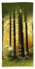 Enchanted Forest - Fantasy Art By Giada Rossi Beach Towel by Giada Rossi