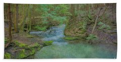 Beach Towel featuring the digital art Enchanted Forest One by Randy Steele