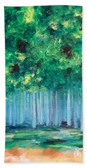 Enchanted Poplars Beach Towel