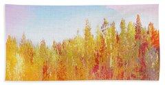 Beach Towel featuring the digital art Enchanted Scenery #3 by Klara Acel