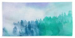 Beach Towel featuring the photograph Enchanted Scenery by Klara Acel