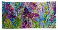 Enchanted Sealife Party Beach Towel