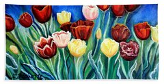 Enchanted Tulips Beach Sheet