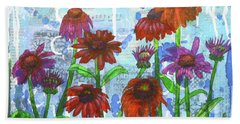 Enchanting Echinacea Beach Towel