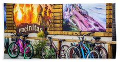 Bicycle Parking Beach Towel