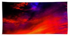 Beach Towel featuring the photograph End Of Day by Michael Nowotny