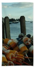End Of Season At Owls Head Beach Towel