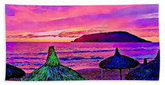 End Of The Beach Day In Mazatlan Beach Towel