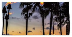 End Of The Beutiful Day.hawaii Beach Towel