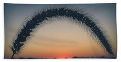 Beach Towel featuring the photograph End Of The Day by Viviana  Nadowski