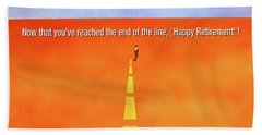 End Of The Line Greeting Card Beach Sheet