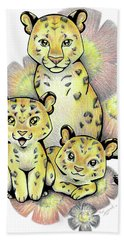 Endangered Animal Amur Leopard Beach Towel