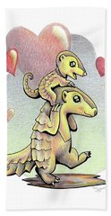 Endangered Animal Pangolin Beach Towel