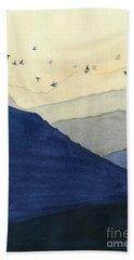 Endless Mountains Left Panel Beach Towel