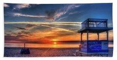 Beach Towel featuring the photograph Endless Summer Sunrise Lifeguard Stand Tybee Island Georgia Art by Reid Callaway