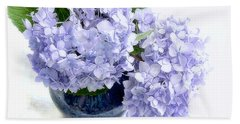 Endless Summer Hydrangea Still Life Beach Sheet