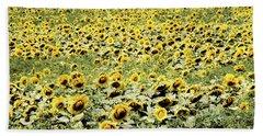 Endless Sunflowers Beach Towel
