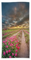 Beach Towel featuring the photograph Endless Tulip Field by William Lee