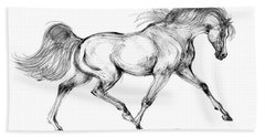 Endurance Horse Beach Towel