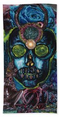 Energy Self Portrait Beach Towel