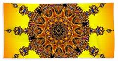Beach Towel featuring the digital art Energy Star by Robert Orinski