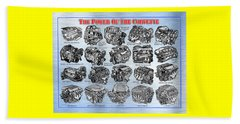 Eng-19_corvette-engines Beach Towel