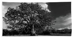 Engellman Oak Palomar Black And White Beach Towel