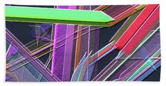 Beach Towel featuring the digital art Engineer's Office by Visual Artist Frank Bonilla