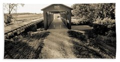 Engle Mill Covered Bridge Beach Towel